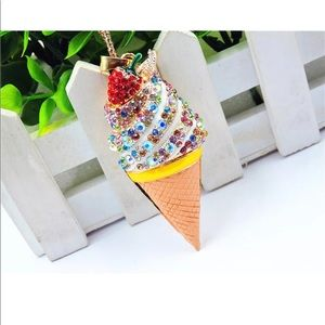 Jewelry - White Colorful Ice Cream Strawberry Necklace